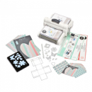 661546 Sizzix Big Shot Plus Starter Kit (White & Gray) with My Life Handmade Cardstock & Fabric